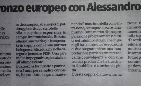 Lepis: bronzo europeo con Alessandro Bozzini