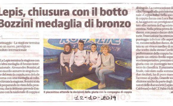 LEPIS, chiusura con il botto Bozzini medaglia di bronzo